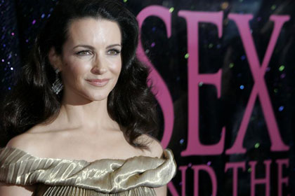 Kristin Davis feels sexiest when she's naked at home.