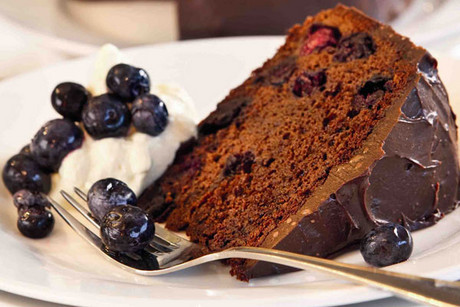 Chocolate and blueberry cake - perfect for Valentines