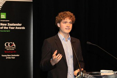 Sam Johnson was named Young New Zealander of the Year 2012