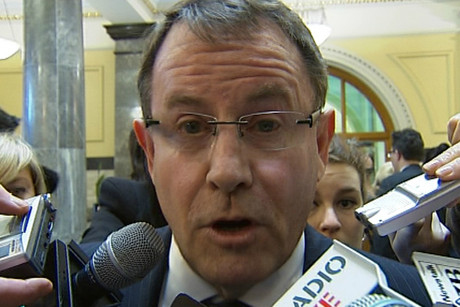 Mr Banks came under heavy scrutiny by reporters at Parliament but failed to answer questions